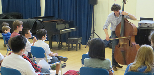 Performers in schools