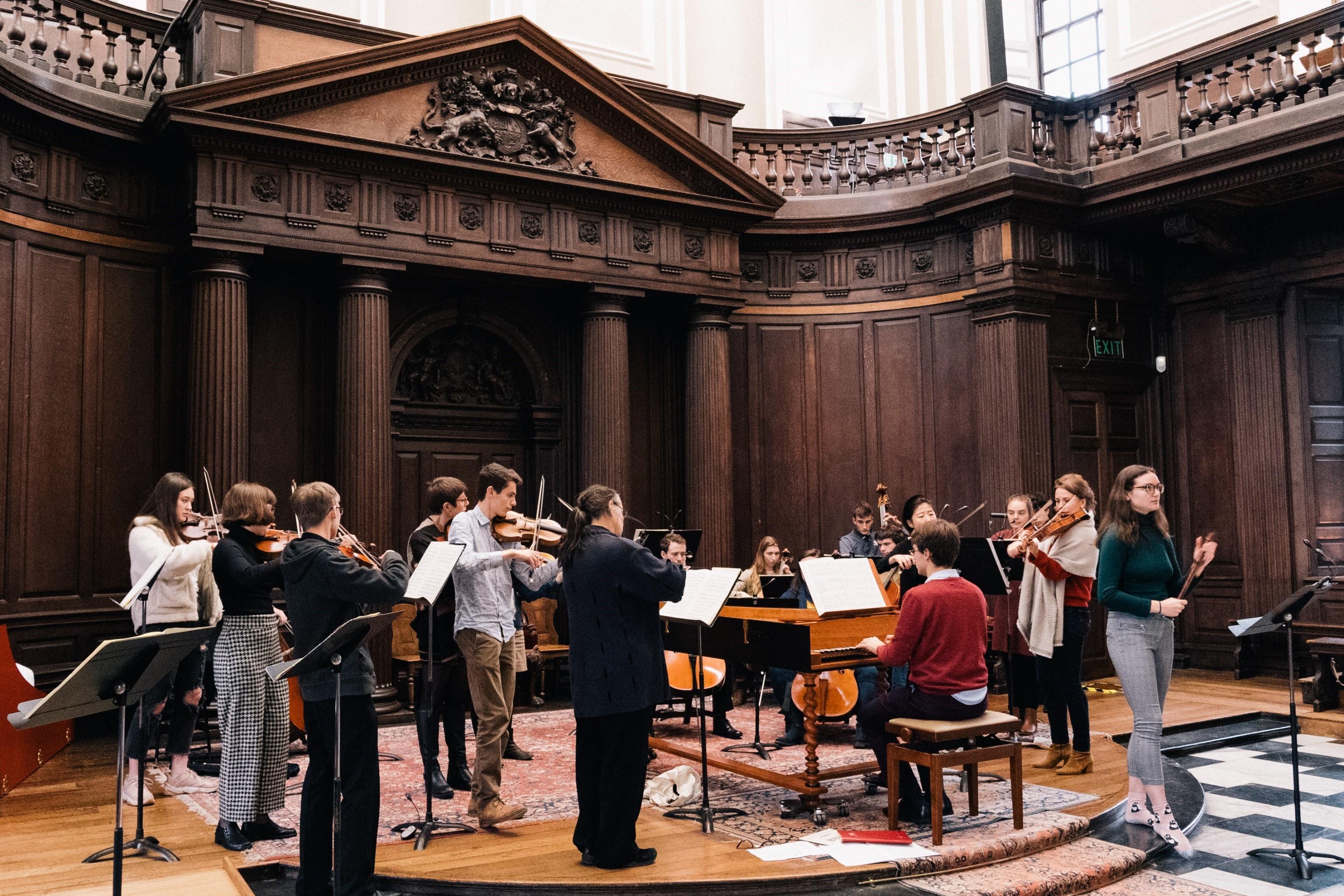 Collegium Musicum performing in the Senate House, November 2019