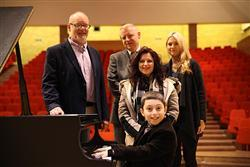 Curtis Elton, 10-year-old piano prodigy, visits the Faculty of Music