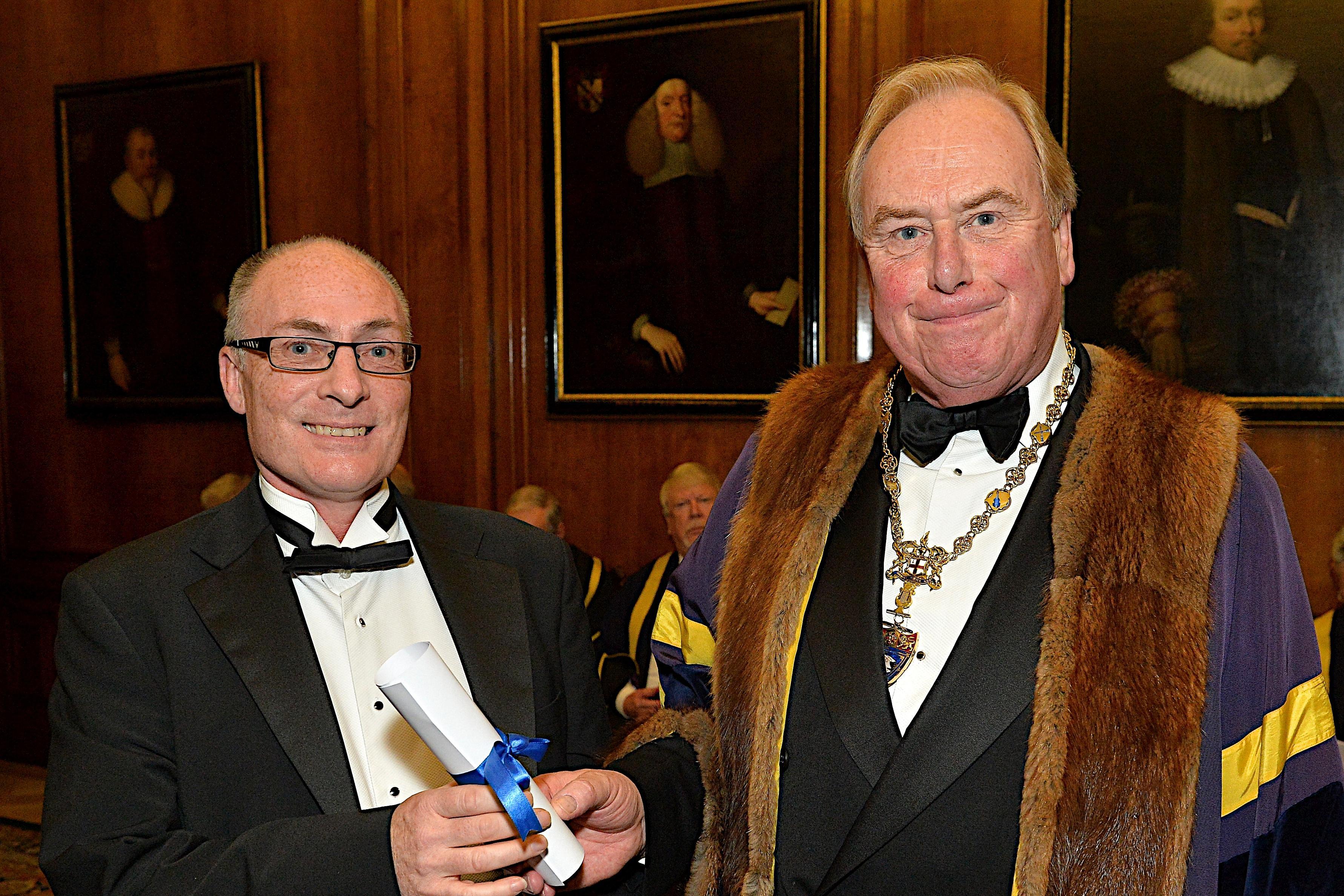 Dr James Westbrook receives the 2015 Terence Pamplin Award