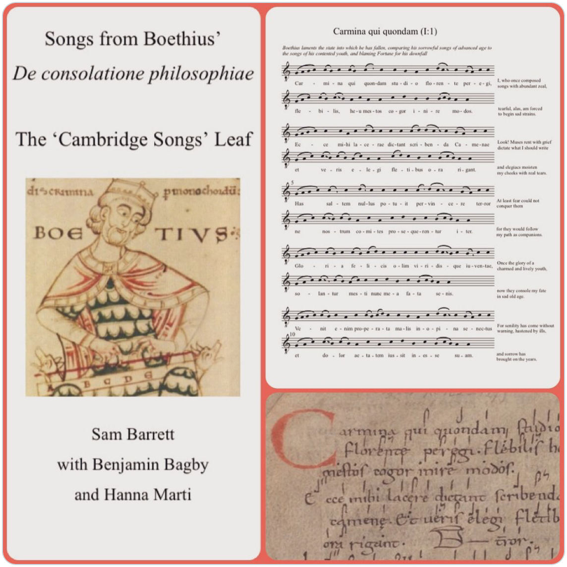 Lost Songs now freely available: New performance edition of Boethius' Songs of Consolation
