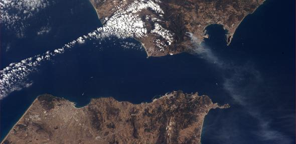 Strait of Gibraltar. Image copyright: ESA/NASA